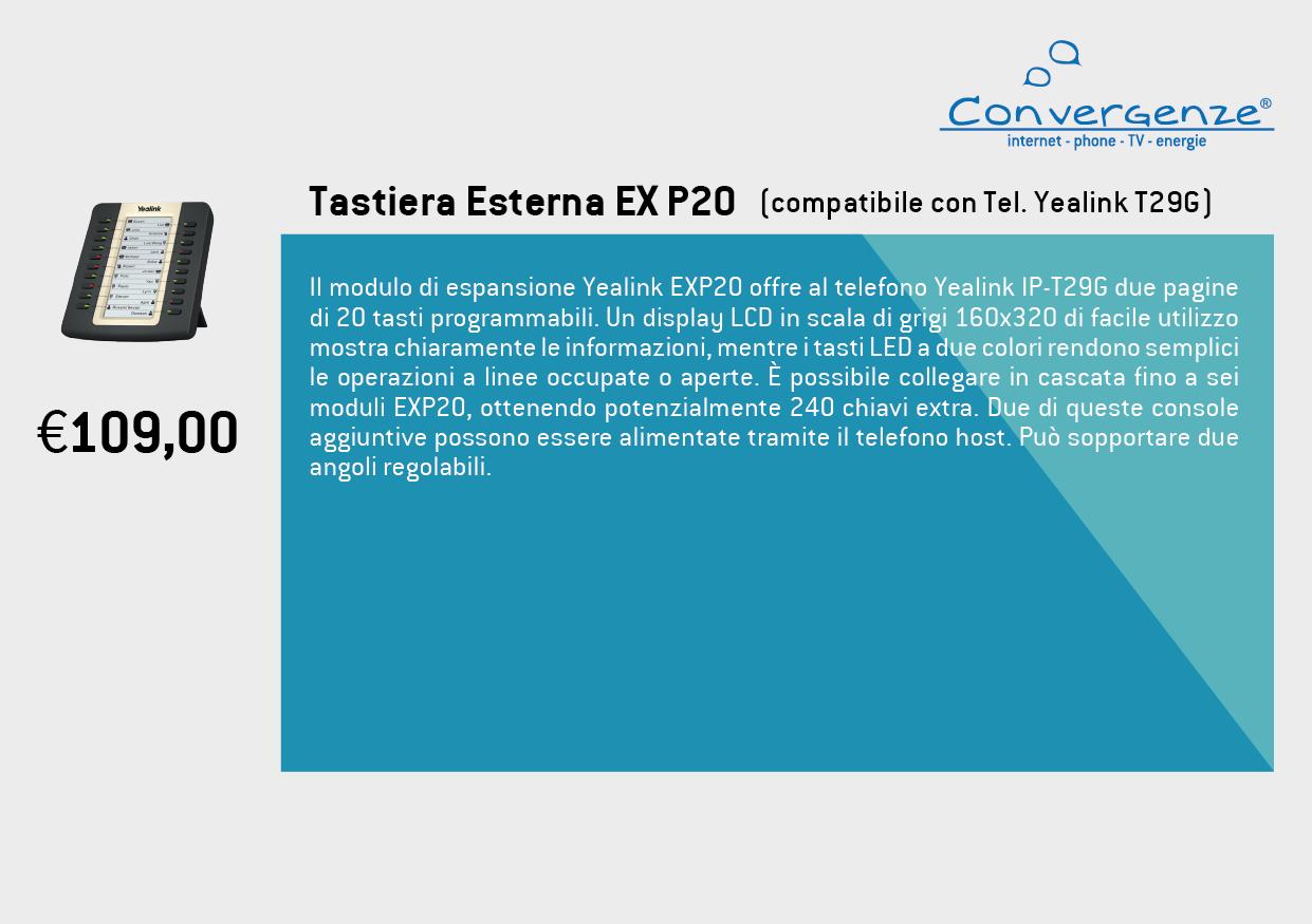 Scheda telefono tecnica VoIP Tastiera esterna EXP20