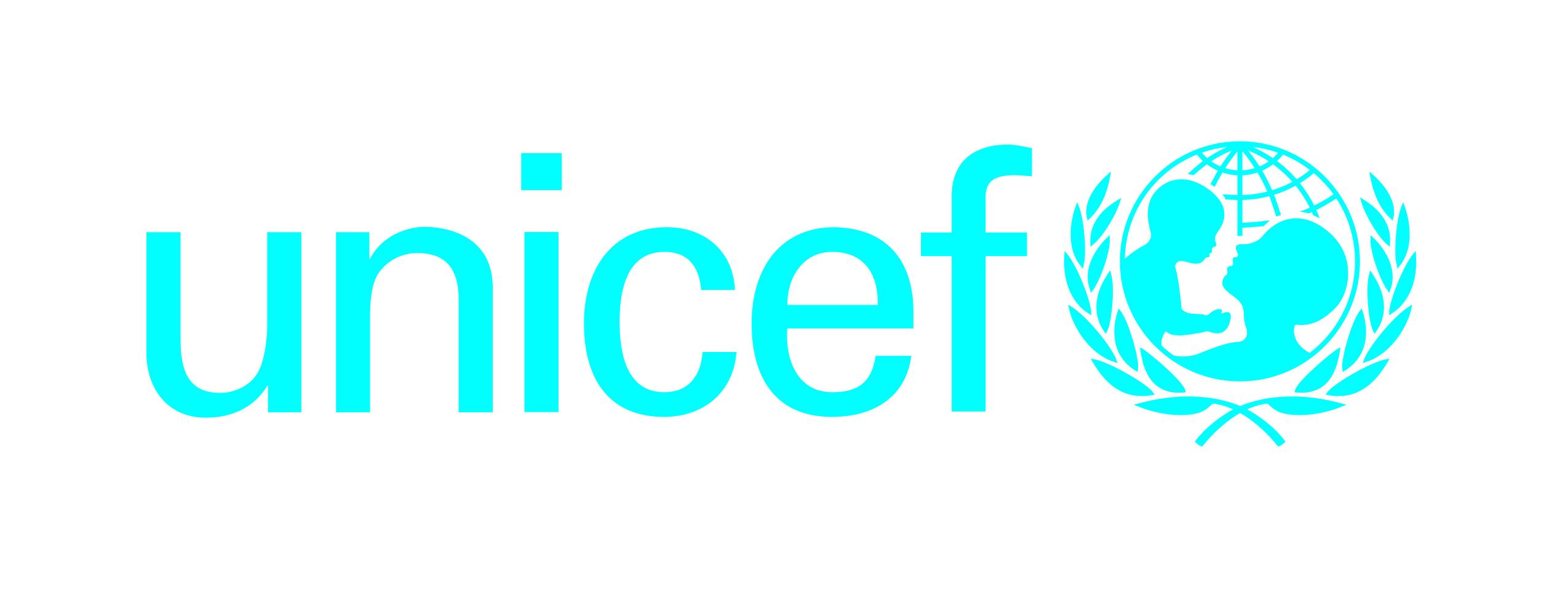 Unicef logotype cyan cmyk 300ppi eng fr sp